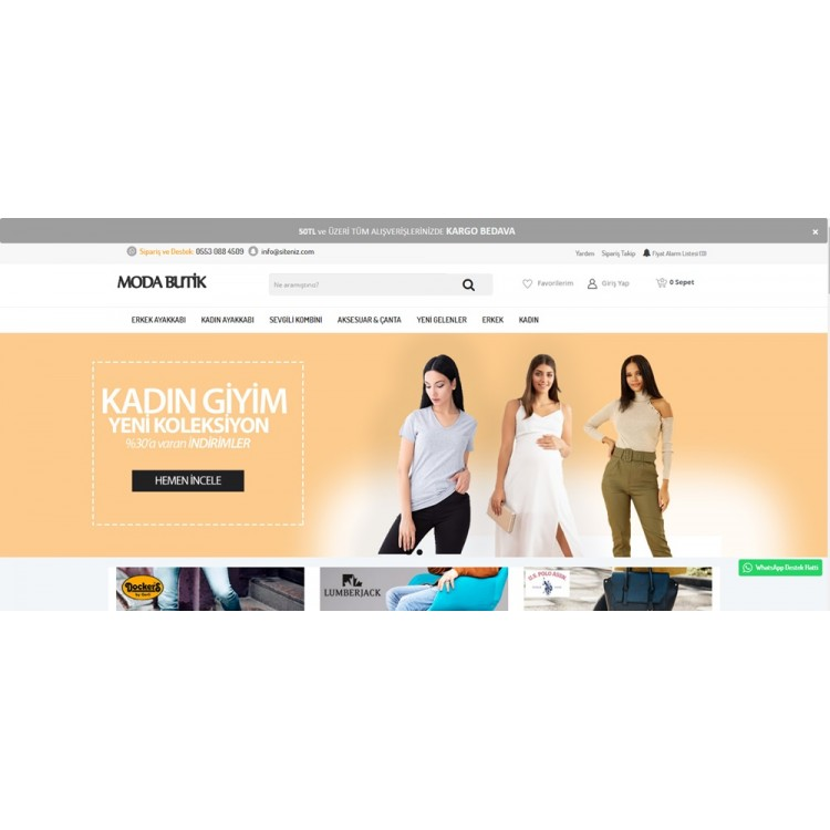 Opencart Butik - Moda Giyim Teması