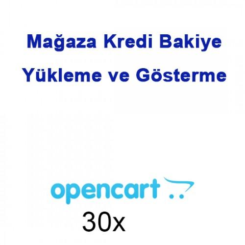 Opencart Mağaza Kredi Bakiye Yükleme ve Gösterme Modülü