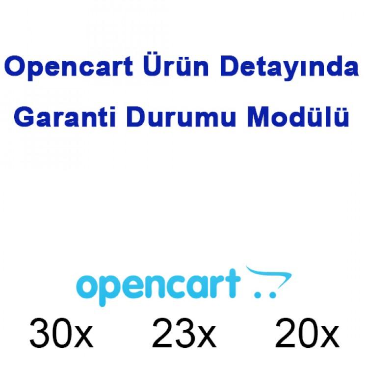 Opencart Ürün Detayında Garanti Durumu Modülü