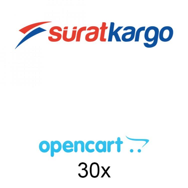 Opencart Sürat Kargo Entegrasyonu 30x